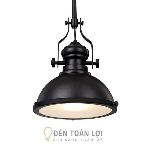 Đèn Thả: Mẫu đèn thả sắt sơn tĩnh điện có mặt mica trang trí quán cafe