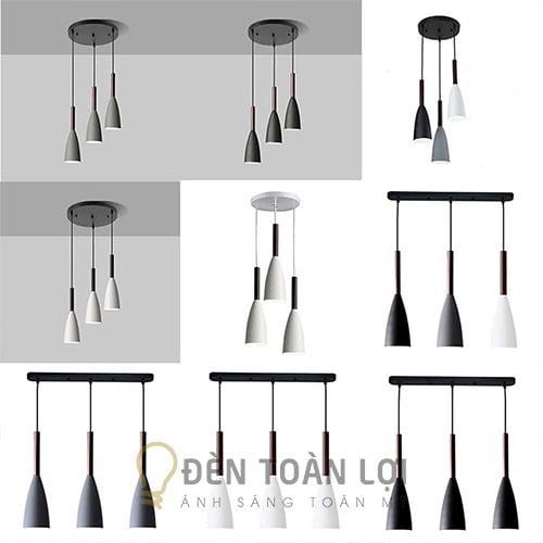 Đèn Thả: Mẫu đèn thả nhỏ ống trúc trang trí bàn ăn