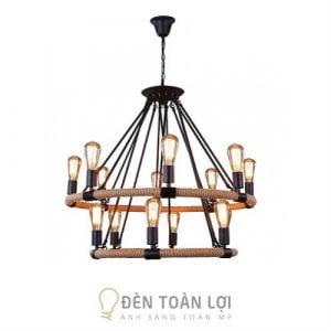 Đèn Thả: Mẫu đèn chùm thả trang trí bàn ăn lớn, trung tâm quán cafe
