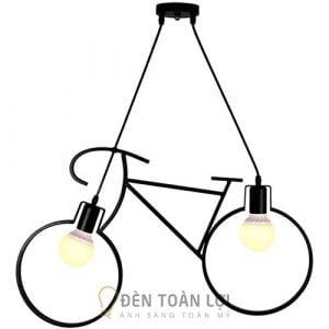 Đèn Thả: Mẫu đèn thả cây xe đạp 2 bóng trang trí quán trà sữa