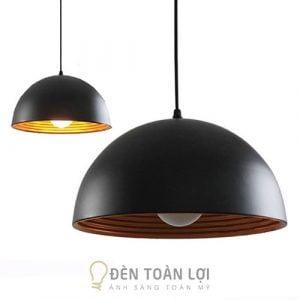 Đèn thả nửa cầu 2 lớp phi 300mm trang trí quán ăn, nhà hàng Hà Nội1