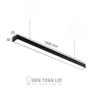 Đèn Thả: Đèn thả văn phòng máng hộp 1200 * 70 * 40 giá rẻ Hà Nội