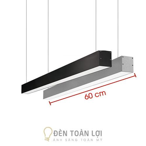 Đèn Thả: Mẫu đèn thả văn phòng máng hộp 600 700 40 mm giá rẻ Hà Nội