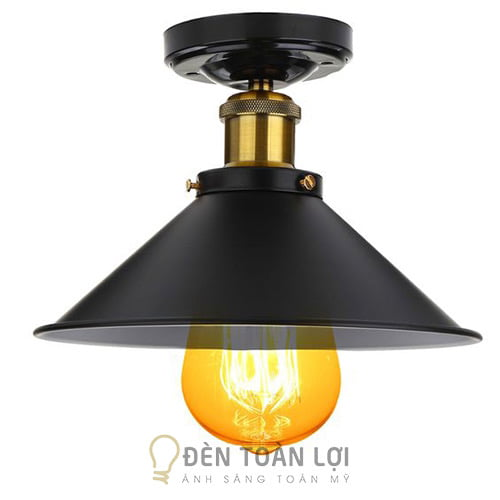 Đèn Thả: Mẫu đèn thả chóp cụp đui đồng trang trí quán cafe
