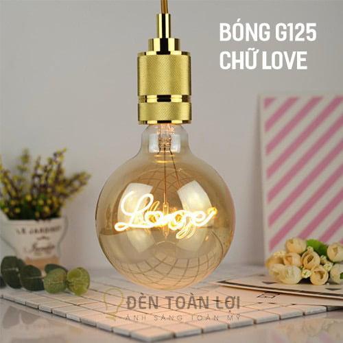 Bóng Đèn: Bóng LED kiểu G125 chữ LOVE trang trí quán trà sữa