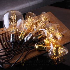 Bóng Đèn: Mẫu bóng LED Edison G125 vỏ trong 4W