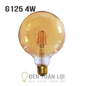 Bóng Đèn: Mẫu bóng LED G125 vỏ vàng 4W trang trí quán trà sữa