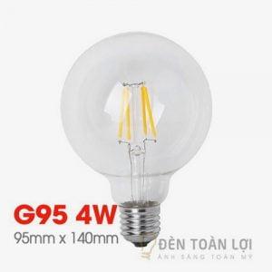 Bóng Đèn: Mẫu LED Edison G95 vỏ trong 4W Hà Nội