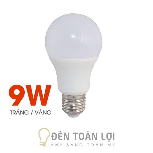 Bóng Đèn: Bóng bulb 9W kín nước ánh sáng trắng, vàng