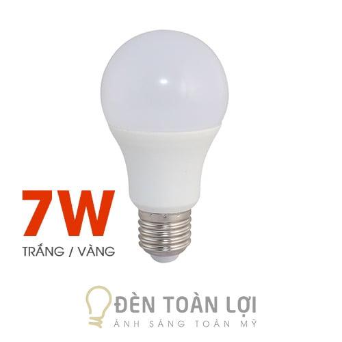 Bóng Đèn: Bóng bulb 7W kín nước ánh sáng trắng, vàng