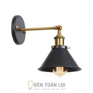 Đèn Vách: Mẫu đèn vách choá cụp sắt sơn tĩnh điện thân vàng
