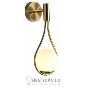 Đèn Vách: Mẫu đèn vách xi vàng choá thuỷ tinh hiện đại trang trí phòng ngủ