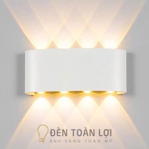 Đèn Vách: Mẫu đèn vách 8 tia hắt tường trên dưới hiện đại giá rẻ