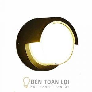 Đèn Vách: Mẫu đèn vách hộp tròn trang trí vách tường ngoài trời