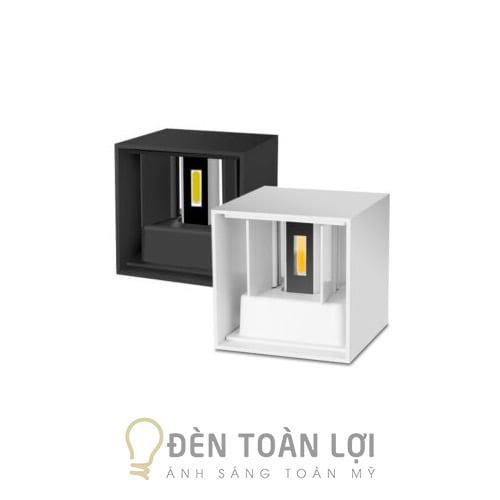 Đèn Vách: Mẫu đèn vách hộp vuông ngoài trời hiện đại giá rẻ