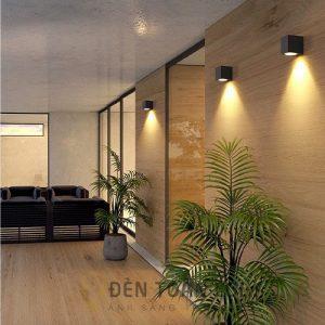 Đèn Vách: Mẫu đèn LED vách hắt tường 1 hướng hình lập phương
