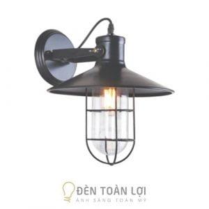 Đèn vách: Đèn vách lồng sắt bóng Edison trang trí quán cafe Hà Nội